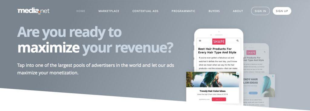 Ezoic Alternatives - Media.net