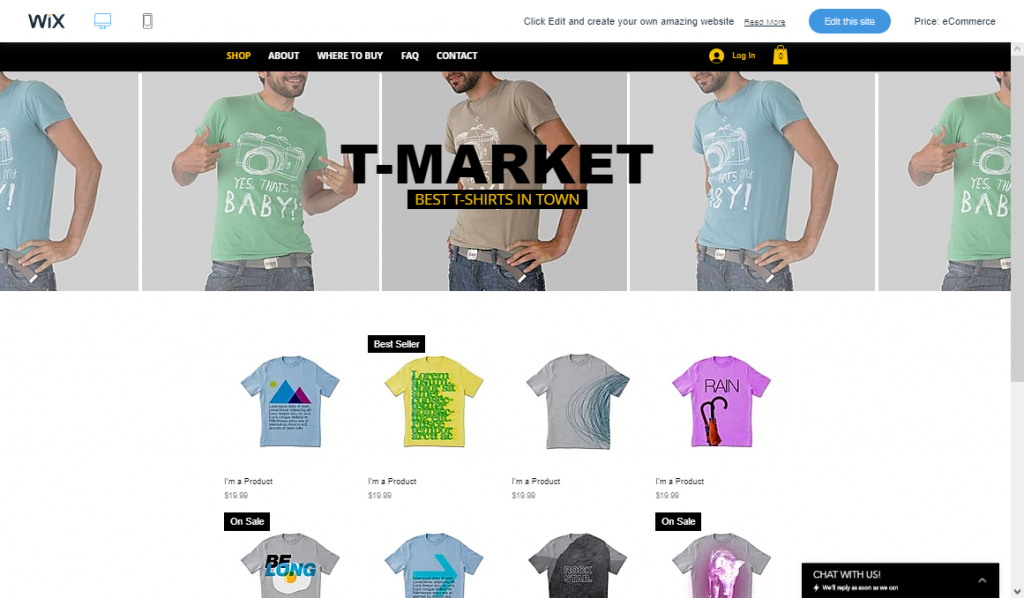 Wix's feature-packed and intuitive eCommerce templates