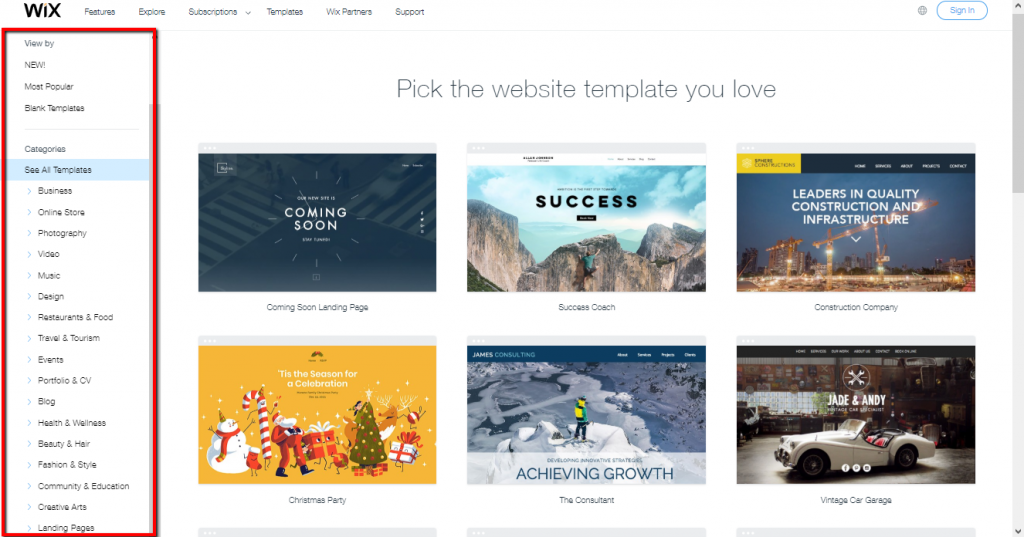 There are over 500 templates spread across 17 categories to choose from